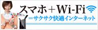 スマホ+Wi-Fi=サクサク快適インターネット
