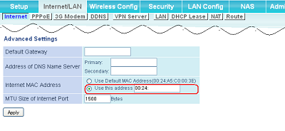 How to: Change WAN MAC address on UserFriendly Firmware
