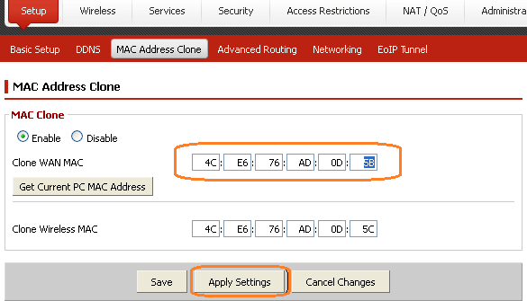 How to: Change WAN MAC address on Professional Firmware